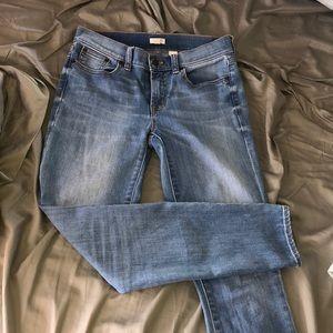 j crew stretch jeans size 27/28